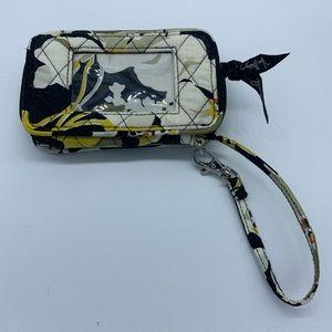 Vera Bradley Black&White floral wristlet ID holder